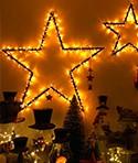 Luces y velas navidad