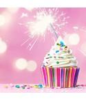 Velas de cumpleaños, bengalas y topper